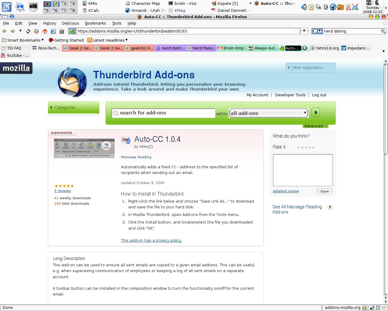 Always Auto CC to a Specific Account • mozillaZine Forums